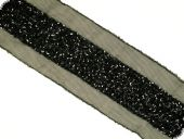 Sequin ribbon with pearls , black, 50mm
